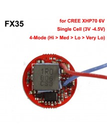 FX35 22mm 4A 3V-4.5V 1-Cell 4-Mode Boost Driver Circuit Board for Cree XHP70 6V LED (1 pc)