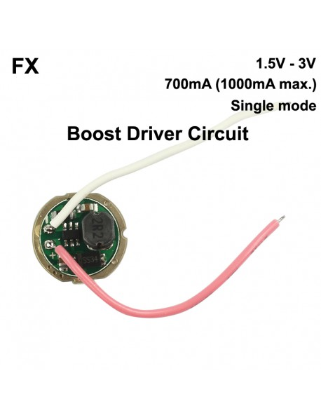 FX 15mm / 20mm 1.5V-3V 1-Mode Flashlight Boost Driver Circuit Board