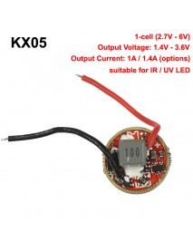 KX05 17mm 1-cell 1000mA / 1400mA 1-Mode Flashlight Driver Circuit Board for IR LED ( 1 pc )