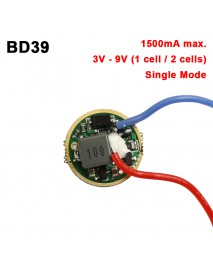 BD39 17mm 1.5A 3V - 9V 1 cell or 2 cells 1-Mode Buck Driver Circuit Board (1 pc)