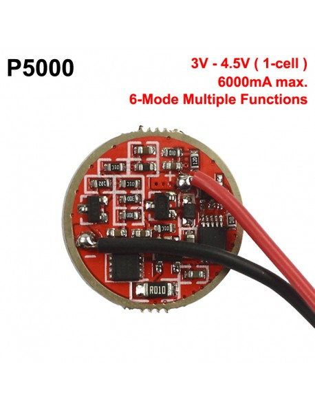 P5000 20mm 6A 1-cell 3V - 4.5V 6-Mode Driver Board (1 pc)