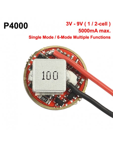 P4000 20mm 5A 1 or 2-cell 3V - 9V Buck Driver Board (1 PC)