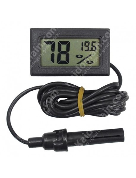 FY-12 LCD Digital Thermometer and Hygrometer Monitor - Black ( 2xAG13 )