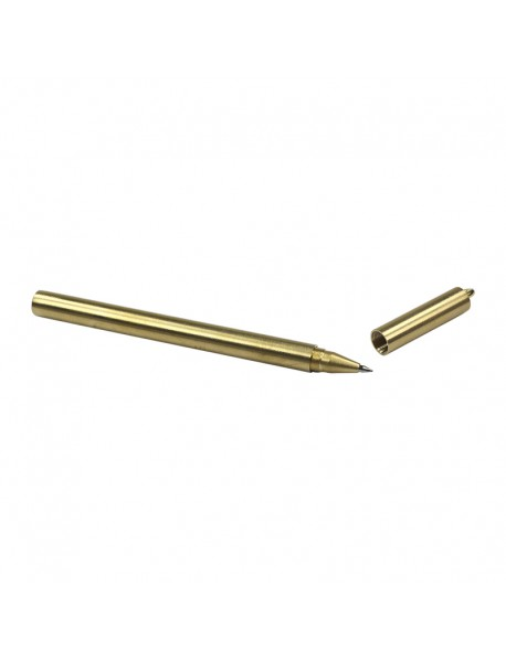 YC02 Brass Ballpoint Pen (0.5mm Black Ink)