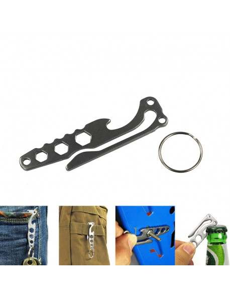 EDC Multifunctional Stainless Steel Keychain (1 pc)