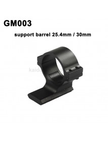GM003 Aluminum Alloy Scope Barrel Mount 25.4mm / 30mm with 20mm Weaver Picatinny Rail - Black (1 pc)