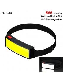 HL-G14 COB 800 Lumens 3-Mode USB Rechargeable COB LED Headlamp (1 PC)