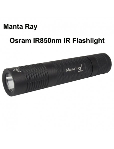Manta Ray Osram IR850nm Infrared Red IR Flashlight - Black ( 1x18650 )