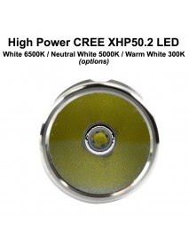 KDIY K5S Cree XHP50.2 2650 Lumens 5-Mode LED Flashlight - Black ( 1x26650 )