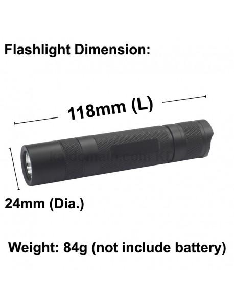 KDIY K12 SST-20 1000 Lumens LED Flashlight - Black ( 1x18650 )