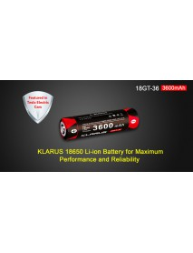 KLARUS 18GT-36 3.6V 3600mAh 18650 Li-ion Battery