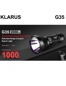 KLARUS G35 CREE XHP35 HI D4 LED 2000 Lumens 6-Mode LED Flashlight (3 x 18650)
