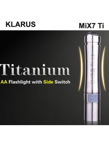 KLARUS MiX7 Ti Cree XP-G2 1A 180 Lumens 4-Mode LED Flashlight (1 x AA)
