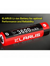 KLARUS 18650 3.6V 2 A 3600mAh Rechargeable 18650 Li-ion Battery - 1pc