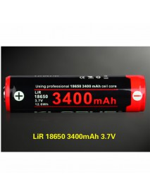 KLARUS 18650 3.7V 3400mAh Rechargeable 18650 Battery- 1pc