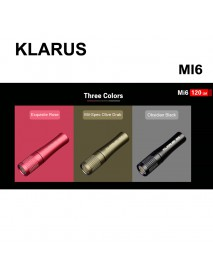 KLARUS MI6 CREE XP-G3 LED 120 Lumens 2-Modes Keychain Flashlight(1 x AAA)