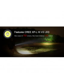 KLARUS Mi7 Cree XP-L HI V3 LED 5-Mode 700 Lumens Flashlight (1 x AA / 1 x 14500)