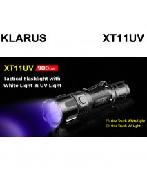 KLARUS XT11UV 1 x Cree XP-L HI V3 + 3 x 365nm UV LED 5-Modes 900 Lumens Flashlight (1 x 18650)