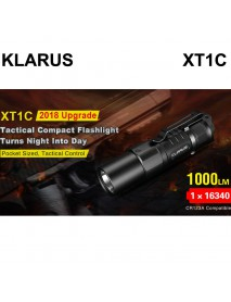 KLARUS XT1C Cree XP-L HD V6 6500K LED 5-Modes 1000 Lumens Flashlight (1 x 16340)