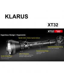 KLARUS XT32 CREE XP-L HI V3 LED 1200 Lumens 2-Modes LED Flashlight(2 x 18650/4 x CR123A)