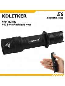 KDLITKER E6 / E6S P60 Flashlight Host - Black