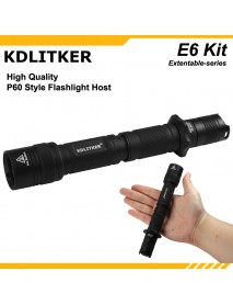 KDLITKER E6 / E6S Flashlight Shell - Black
