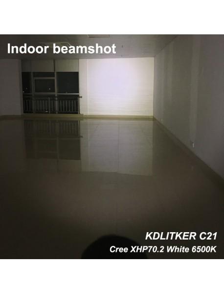 KDLITKER C21 Cree XHP70.2 3600 Lumens 5-Mode LED Flashlight - Black ( 1x21700 )