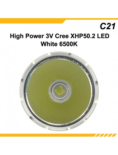 KDLITKER C21 3V Cree XHP50.2 2600 Lumens 5-Mode LED Flashlight - Black ( 1x21700 )