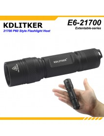 KDLITKER E6(21700) P60 Flashlight Host - Black