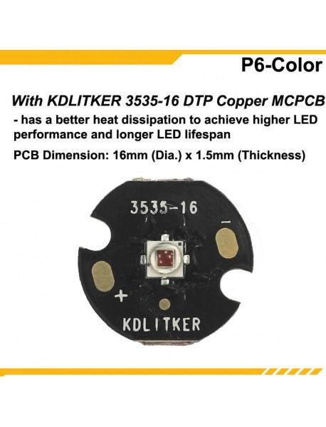 KDLITKER P6-COLOR Cree XP-E2 Far Red 730nm 280 Lumens P60 Drop-in Module