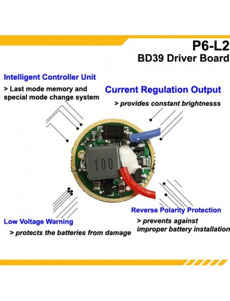 KDLITKER P6-L2 Cree XM-L2 800 Lumens 3V - 9V LED P60 Drop-in Module