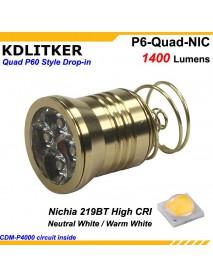 KDLITKER Quad Nichia 219BT 1400 Lumens High CRI LED Drop-in Module (Dia. 26.5mm)
