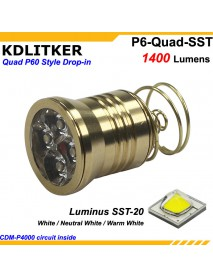 KDLITKER Quad Luminus SST-20 1400 Lumens High Power LED Drop-in Module (Dia. 26.5mm)