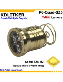 KDLITKER Quad Seoul SZ5 1400 Lumens High CRI LED Drop-in Module (Dia. 26.5mm)