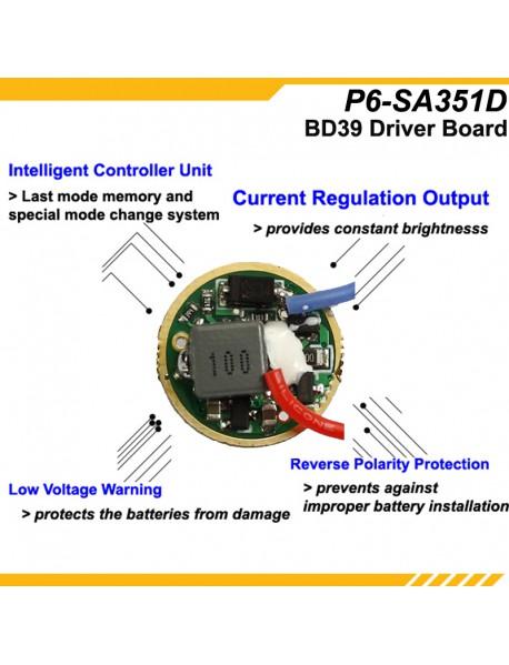 KDLITKER P6-SA351D Samsung LH351D 800 Lumens 3V - 9V P60 Drop-in (Dia. 26.5mm)