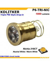 KDLITKER Triple Nichia 219CT 1000 Lumens High Power High CRI LED Drop-in Module (Dia. 26.5mm)