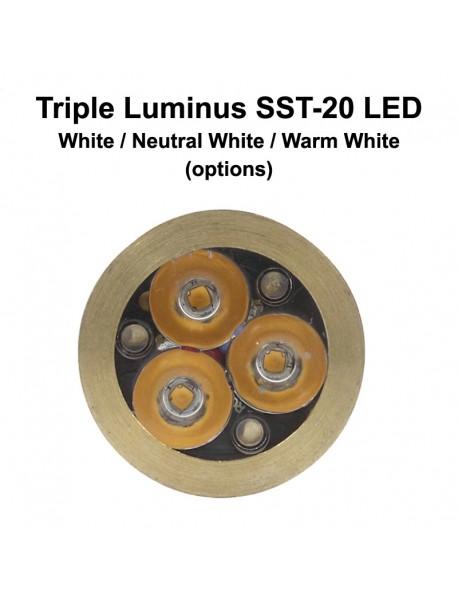 KDLITKER Triple Luminus SST-20 1000 Lumens High Power LED Drop-in Module (Dia. 26.5mm)