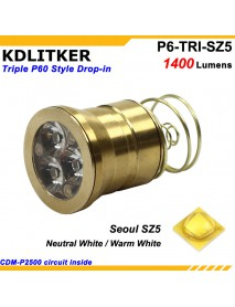 KDLITKER Triple Seoul SZ5 1400 Lumens High CRI LED Drop-in Module (Dia. 26.5mm)