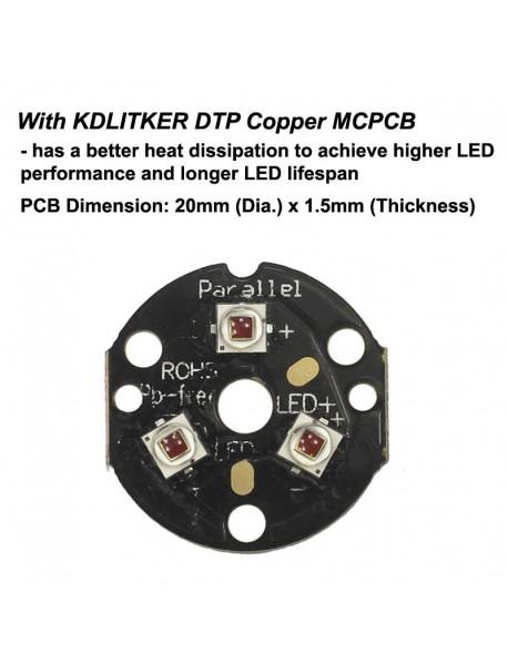 KDLITKER Triple Cree XP-E2 Photo Red 660nm 800 Lumens Hunting LED Drop-in Module (Dia. 26.5mm)
