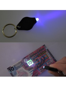 385nm UV Money Detector LED Keychain - Purple (1 pc)