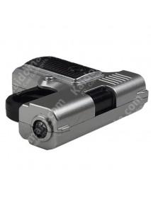 KKZ108 Cool Hand Gun Style + Gun Sound Effect LED Flashlight Keychain - Silver (1 pc)