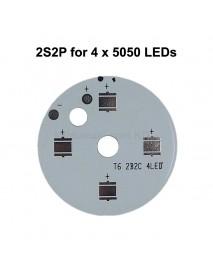 40mm (D) x 2mm (T) 2S2P Aluminum Base Plate for 4 x 5050 LEDs