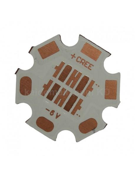 20mm(D) x 1.5mm(T) 6V / 12V DTP Copper PCB for 4 x Cree XP series / 3535 LEDs ( 2 pcs )