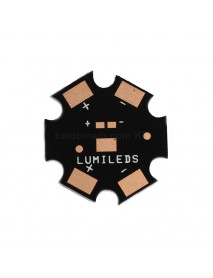 20mm x 1.5mm Aluminum Base Plate for LUXEON Rebel LED - Black (5 pcs)