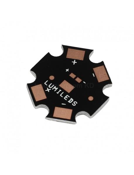 20mm x 1.5mm Aluminum Base Plate for LUXEON Rebel LED - Black (5 pcs)