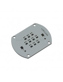 55.2mm x 40mm Aluminum Base Plate for 10 x LUXEON Rebel LED (Series)