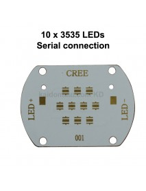 56mm (L) x 40mm (W) Copper PCB for 10 x 3535 LEDs - Serial Connection (1 pc)