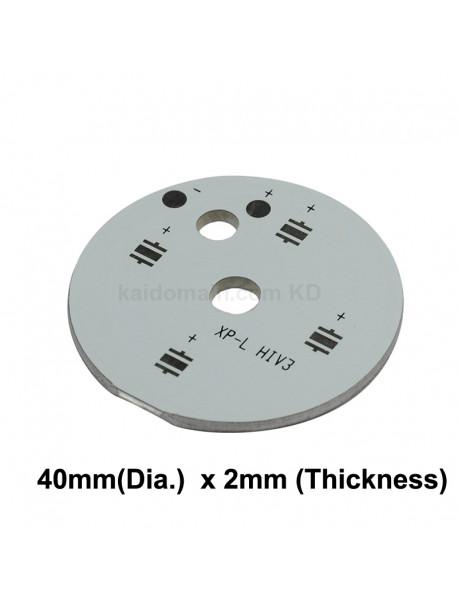 40mm (D) x 2mm (T) 2S2P Aluminum Base Plate for 4 x 3535 LEDs