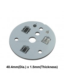 40.4mm(D) x 1.5mm(T) Aluminum Base Plate for 3 x 5050 LEDs - Serial (1 pc)