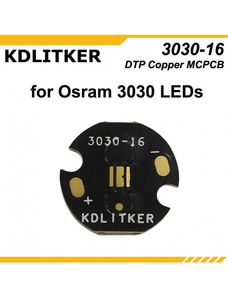 KDLITKER 3030-16 DTP Copper MCPCB for Osram / 3030 LEDs ( 2 pcs )